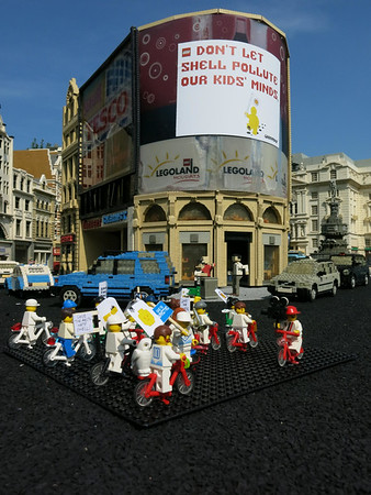 Piccadilly Circus Legoland Protest