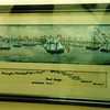 Another P. Randle painting on display at the museum. This one shows Arnold's fleet as they were stationed during the battle.