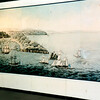 This large mural is a reproduction of a painting by Henry Gilder of the Battle of Valcour Island. The original hangs in Windsor Castle.
