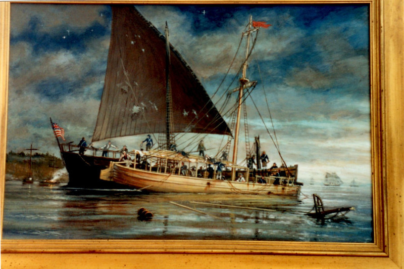 Ernest Haas' painting of Philadelphia Sinking is on display at the museum.