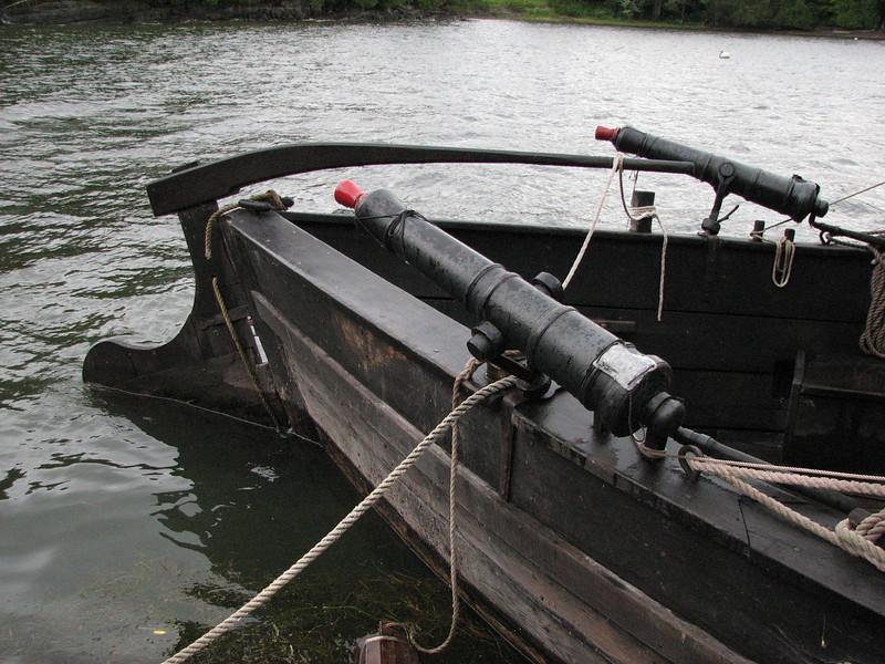 Stern and rudder of Philadelphia II
