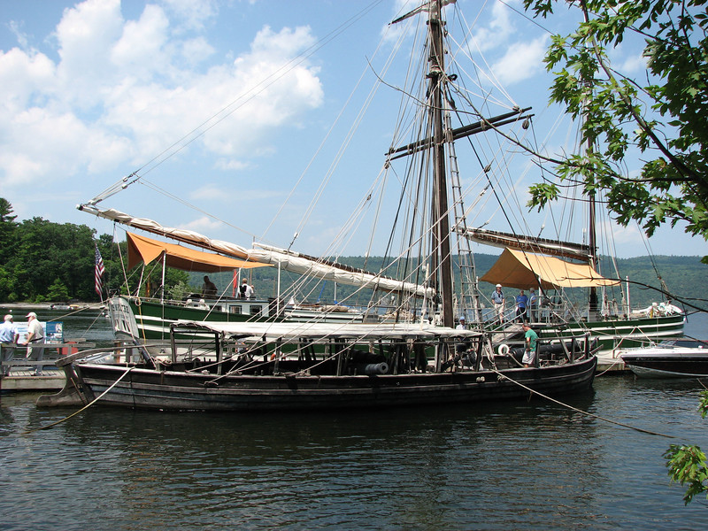 LCMM built this reproduction of the gundalow Philadelphia, and sails it to ports around Lake Champlain and along the Hudson River and Erie Canal to bring the story of the Battle of Valcour Island to life.