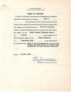 Order of Transfer
