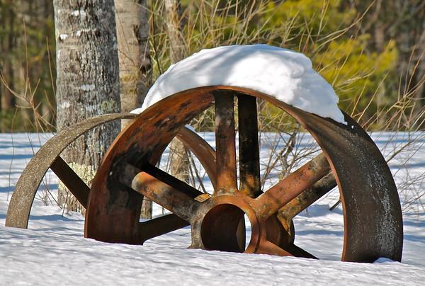 15.02.28 Field of Sculpture by Roger Majorowicz in Heavy Snow
