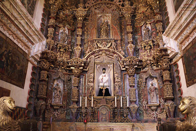 Main altar of the San Xavier del Bac church near Tucson, Arizona.