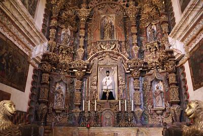 Main altar of the San Xavier del Bac church near Tucson, Arizona.