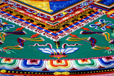 Tibetan Mandala, up close.