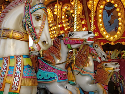 Carousel in Frankfurt, Germany (detail).