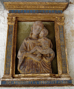 Madonna and child, Santa Barbara mission, California.