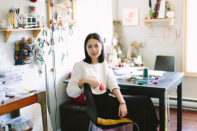 Artist Caroline Pham portraits