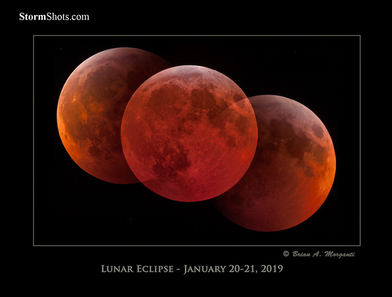 Total Lunar Eclipse Montage - January 2019