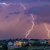 Suburban Lightning - Castle Rock Colorado