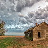 Long Abandoned - Prairie House & Tree - Turpin Oklahoma
