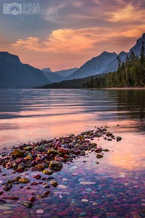 Lake McDonald's rocks