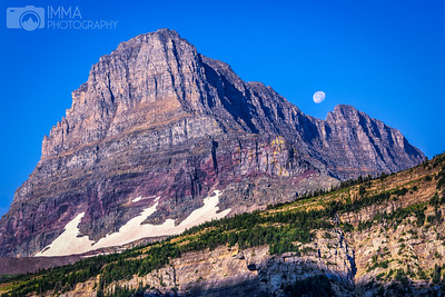 Moon Setting over Mount Clements