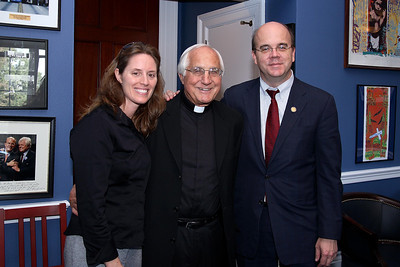 Linda and Bishop Gumbleton meet with Congressman McGovern to talk about issues relating to El Salvador.