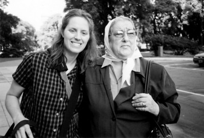 Argentina - Linda and Hebe de Bonafini, one of the founding members of the Mothers of the Plaza de Mayo and President of the Mothers Association since 1979.