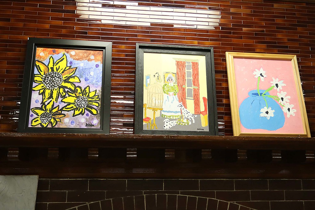 . Artist Kevin McCarthy, 62, of Fitchburg had an art show of some of his work this week at the Fitchburg Senior Center. A few of his pieces in the show. SENTINEL & ENTERPRISE/JOHN LOVE