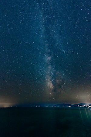 Milky Way over Lake Tahoe