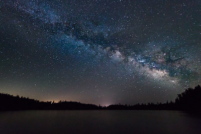 Milky Way over Blue Lake