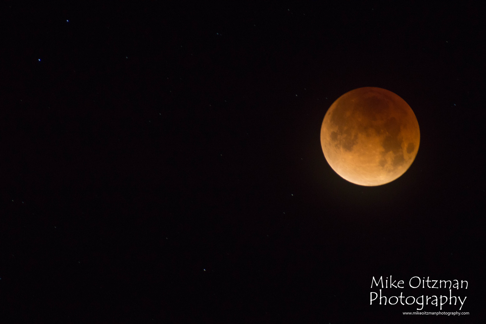 Image of the super, blue, blood moon on 1/31/18. This is at the totality for the eclipse.