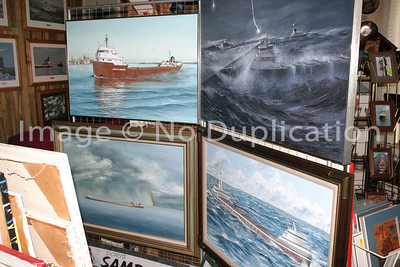 Great Lakes Freighters on Canvas