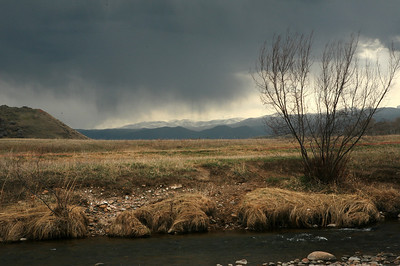 12 Rain over the Big Horn Mts