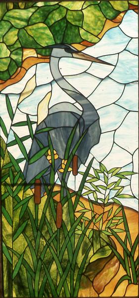 Heron School window