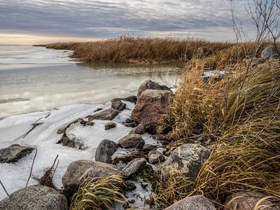 Hecla Island shoreline (by Janet)