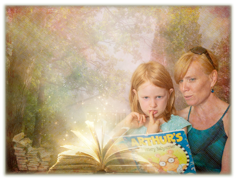Reading at Grandma's house