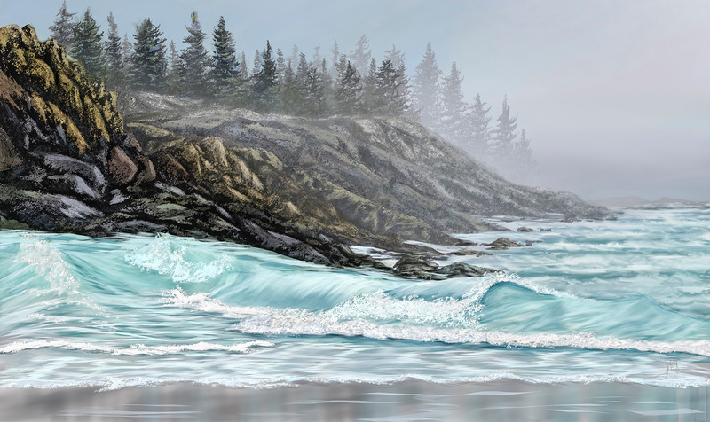 The Foggy Seascape