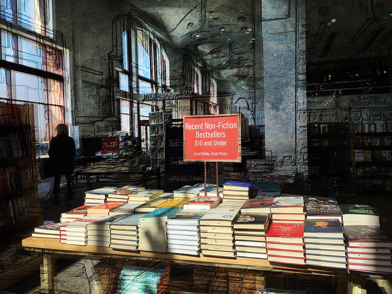 Bookstores are always other-worldly (and other-wordly)