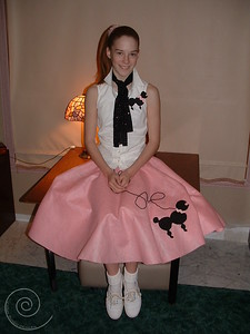 A poodle skirt made in 2002 (with a poodle pin for the blouse)
