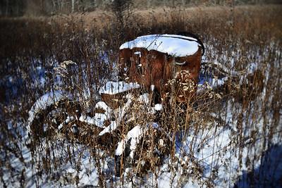 Abandoned Car---Mountain Top. PA
