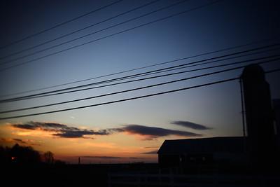 Farm Sunset---Honeybrook, PA