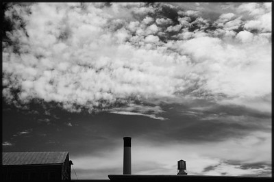 Clouds and Smoke Stack