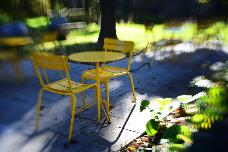 Yellow Table & Chairs---Mount Airy, Philadelphia, PA