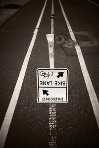 Parking Bike Lane---Philadelphia, PA