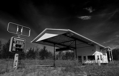 Abandoned Gas Station (Digital Infrared)