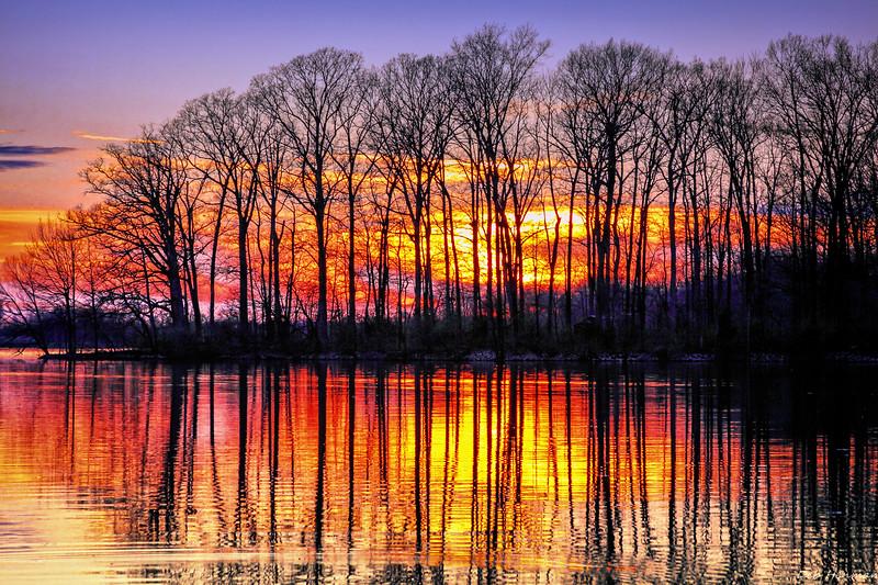 Sunset at Olney Lake Again