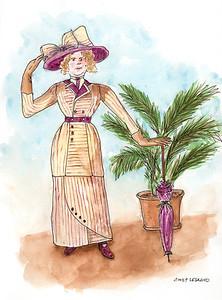 Lady with Purple Umbrella