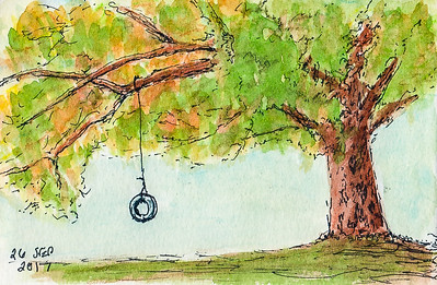 Tire Swing - Study in Fall Colors