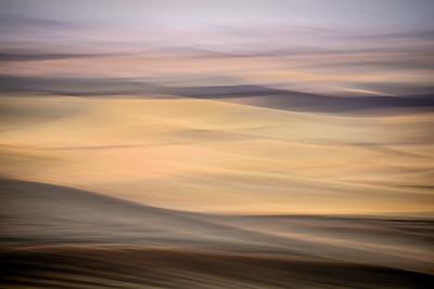 The Palouse Region, southeastern Washington, USA.  In camera-blur of rolling hills in autumn as seen from Steptoe Butte.