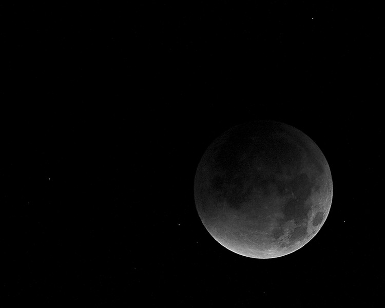 Shot during Total Lunar Eclipse 2007 10 miles south of San Francisco at 3:00am.