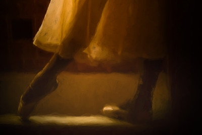 The ballet shoes  and romantic tutu of Cuban National ballerina standing with light shining through tutu in old Havana Mansion, Cuba