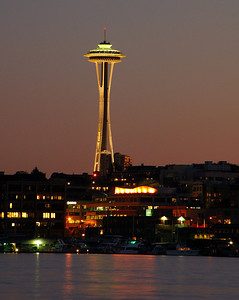 This was actually taken a couple of years ago. A view of the space needle from GasWorks park.