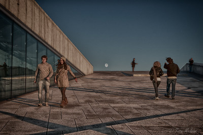 Autumn evening at Oslo Opera House, Oslo, Norway.