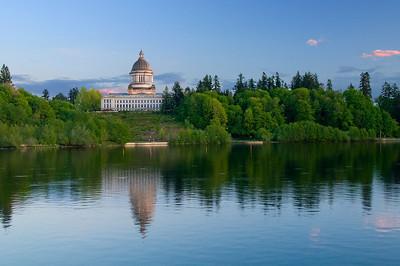 Olympia, WA State Capital. Capital Lake