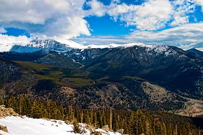 Rocky Mountain National Park - view east from top of Trail Ridge Road