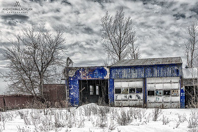 Abandoned Gas Station in Simcoe County, Ontario, Canada